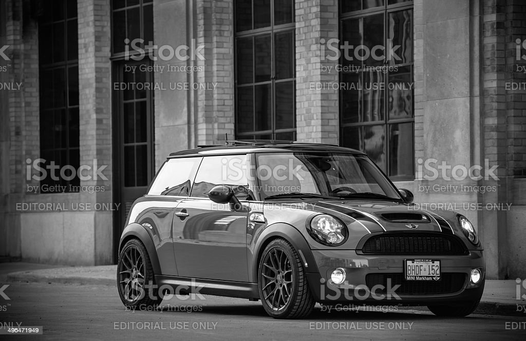 Mini Cooper S in spring time royalty-free stock photo