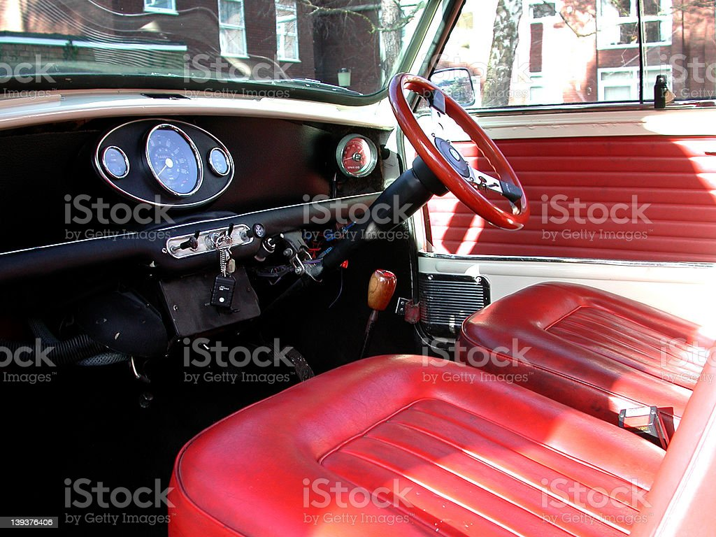 mini cooper s interior 2 royalty-free stock photo