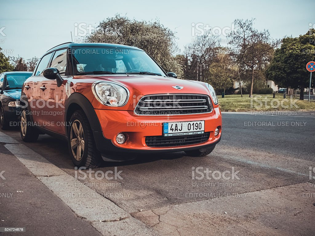 Mini Cooper S on the street stock photo