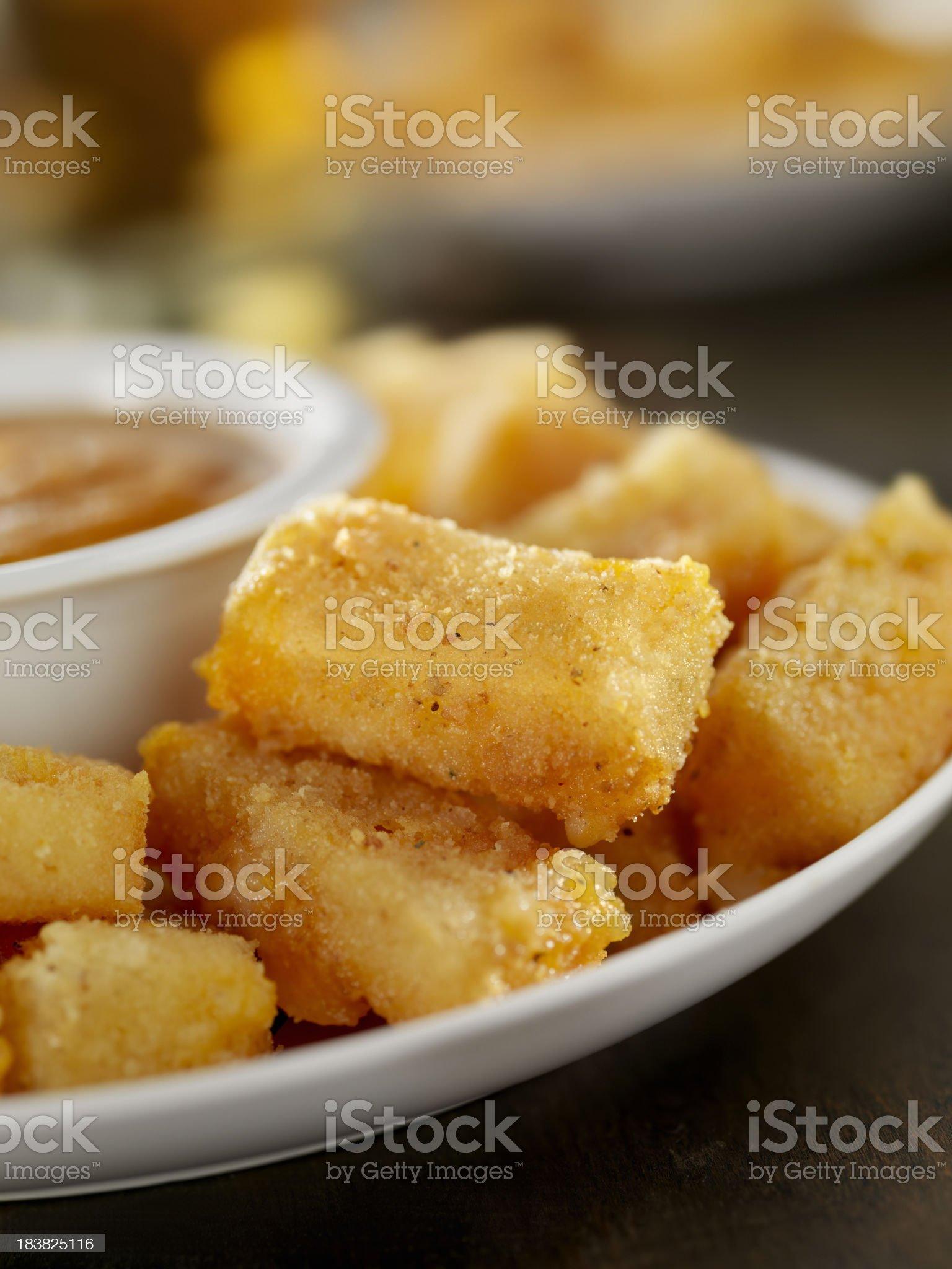Mini Crispy Mozzarella Sticks royalty-free stock photo