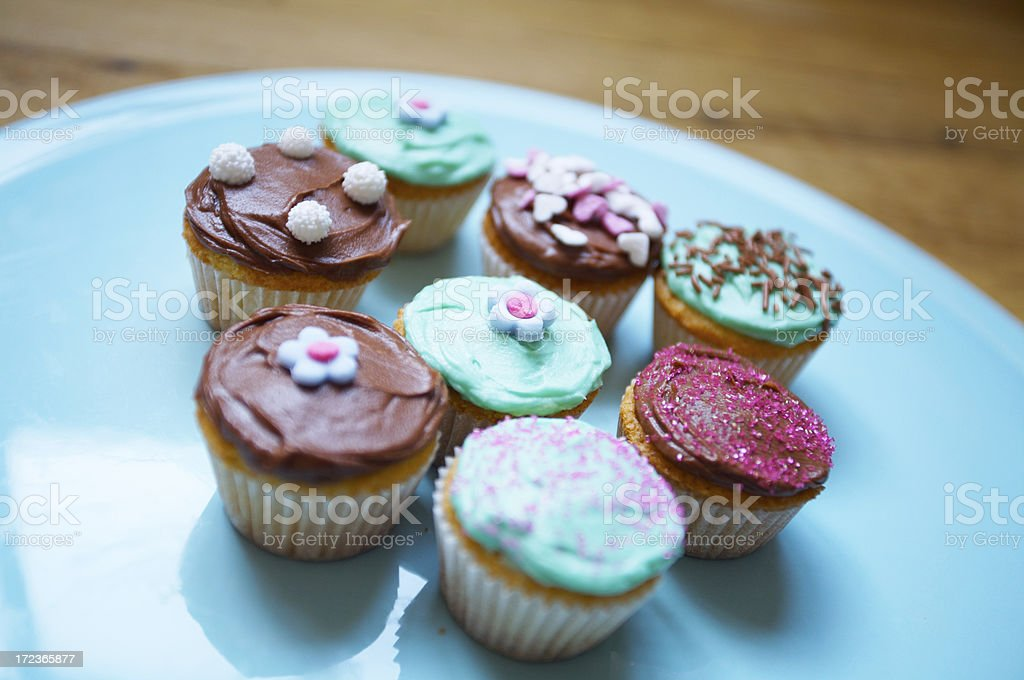 Mini cupcakes with challow depth of field royalty-free stock photo