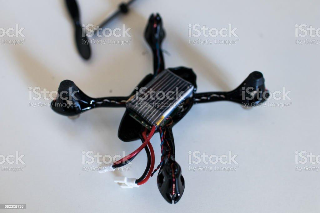 Mini drone spare parts stock photo