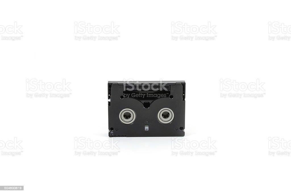 Mini DV Cassettes isolated on white background stock photo