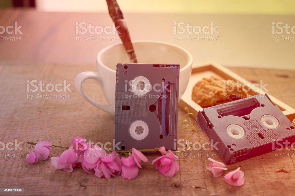 Mini DV Cassettes stock photo
