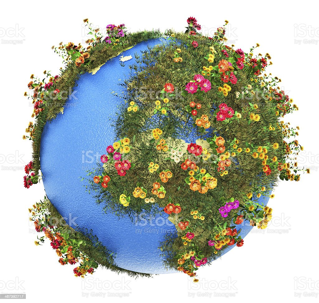 Mini Earth planet stock photo