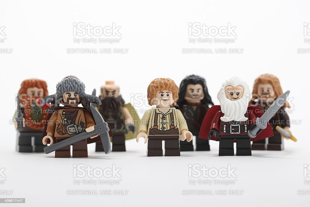 mini figures from the Hobbit series royalty-free stock photo