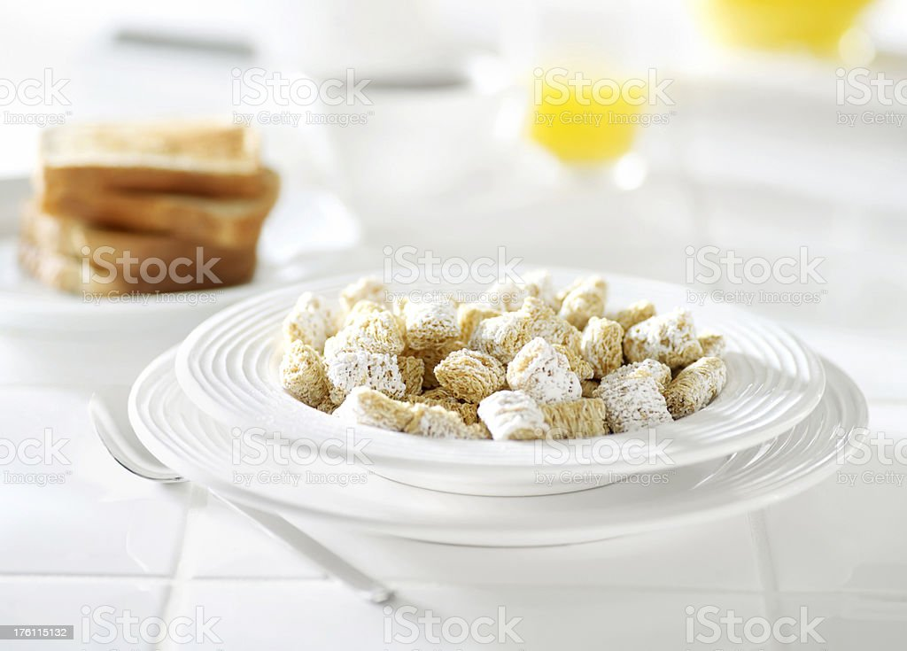 Mini Frosted Shredded Wheat Breakfast Cereal stock photo
