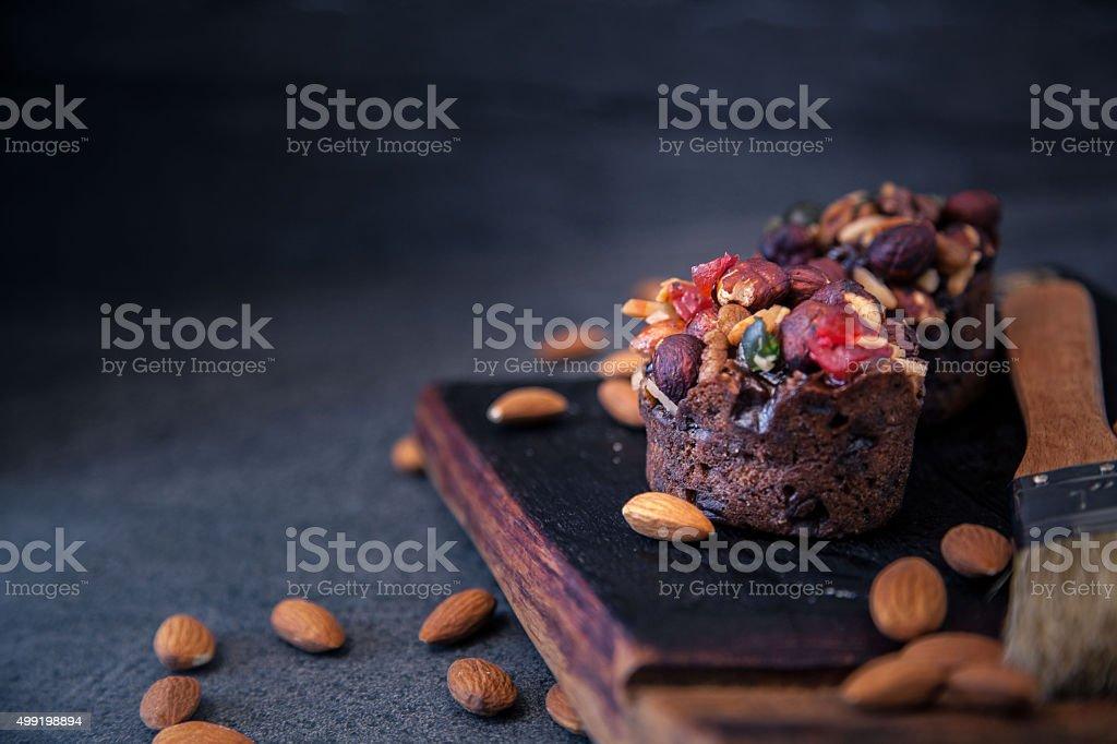 Mini Fruit & Nut Cake stock photo
