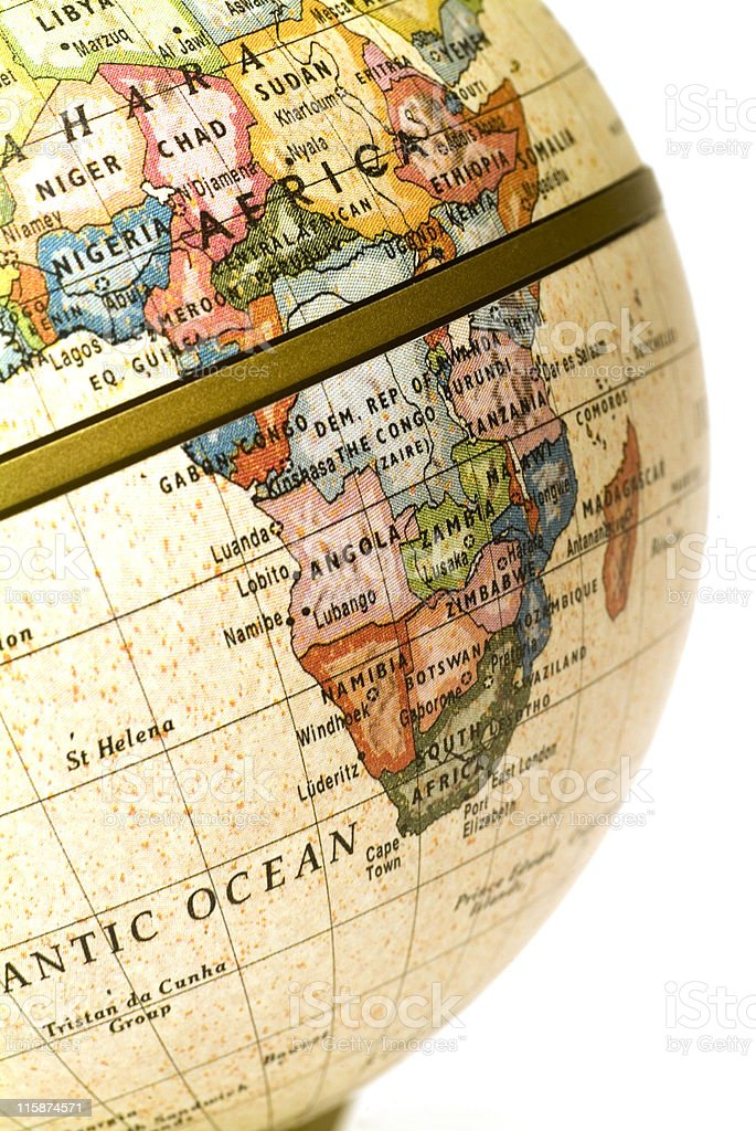 Mini Globe South Africa (Request) royalty-free stock photo