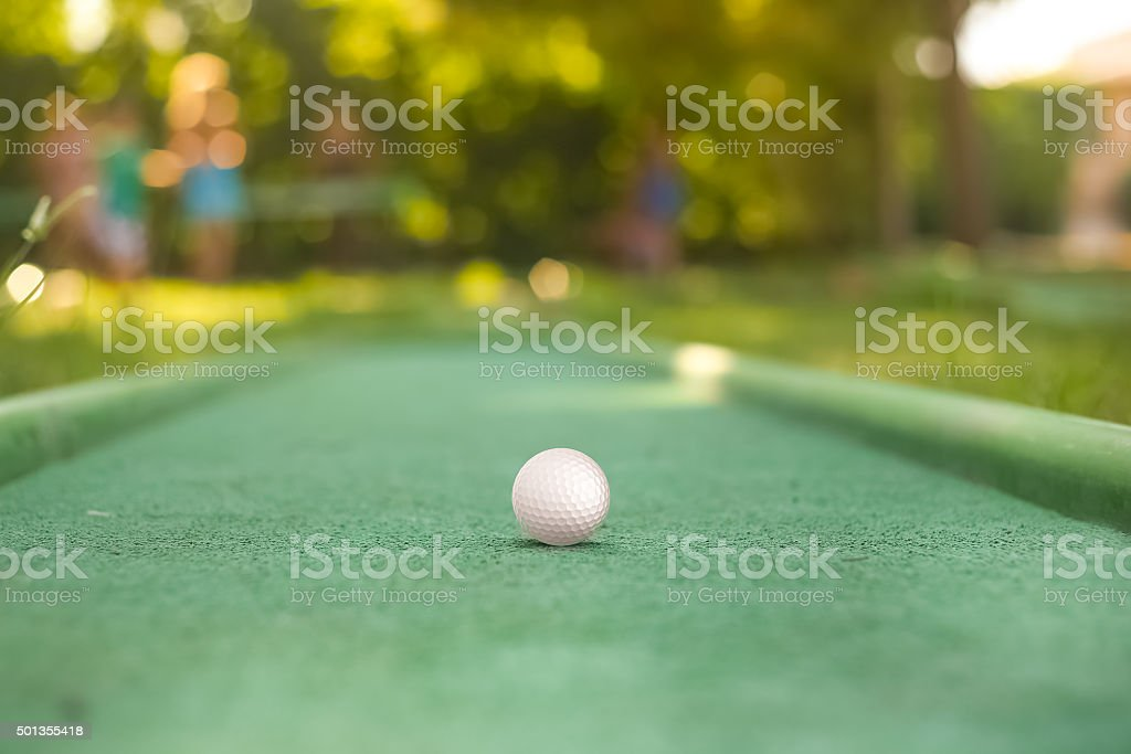 mini golf ball stock photo