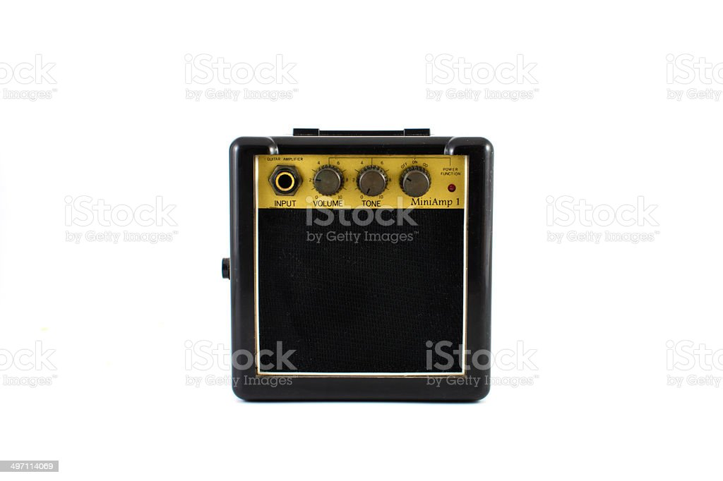Mini Guitar amplifier stock photo