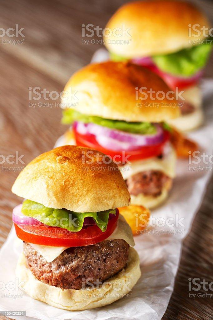 Mini Hamburger stock photo