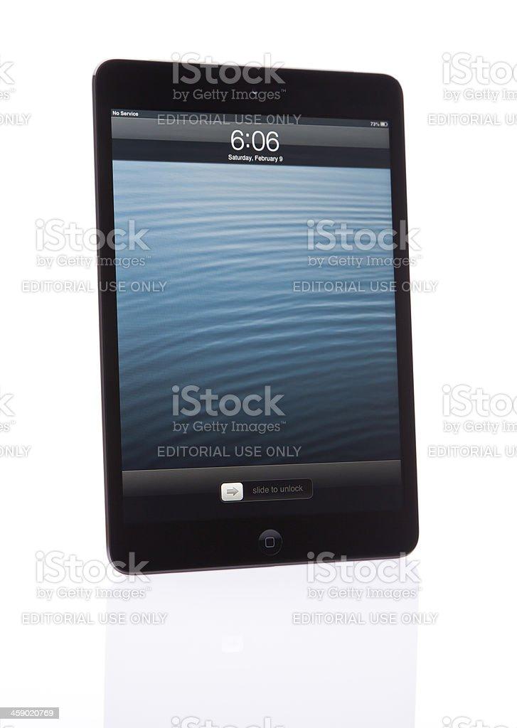 Mini iPad Lock Screen royalty-free stock photo