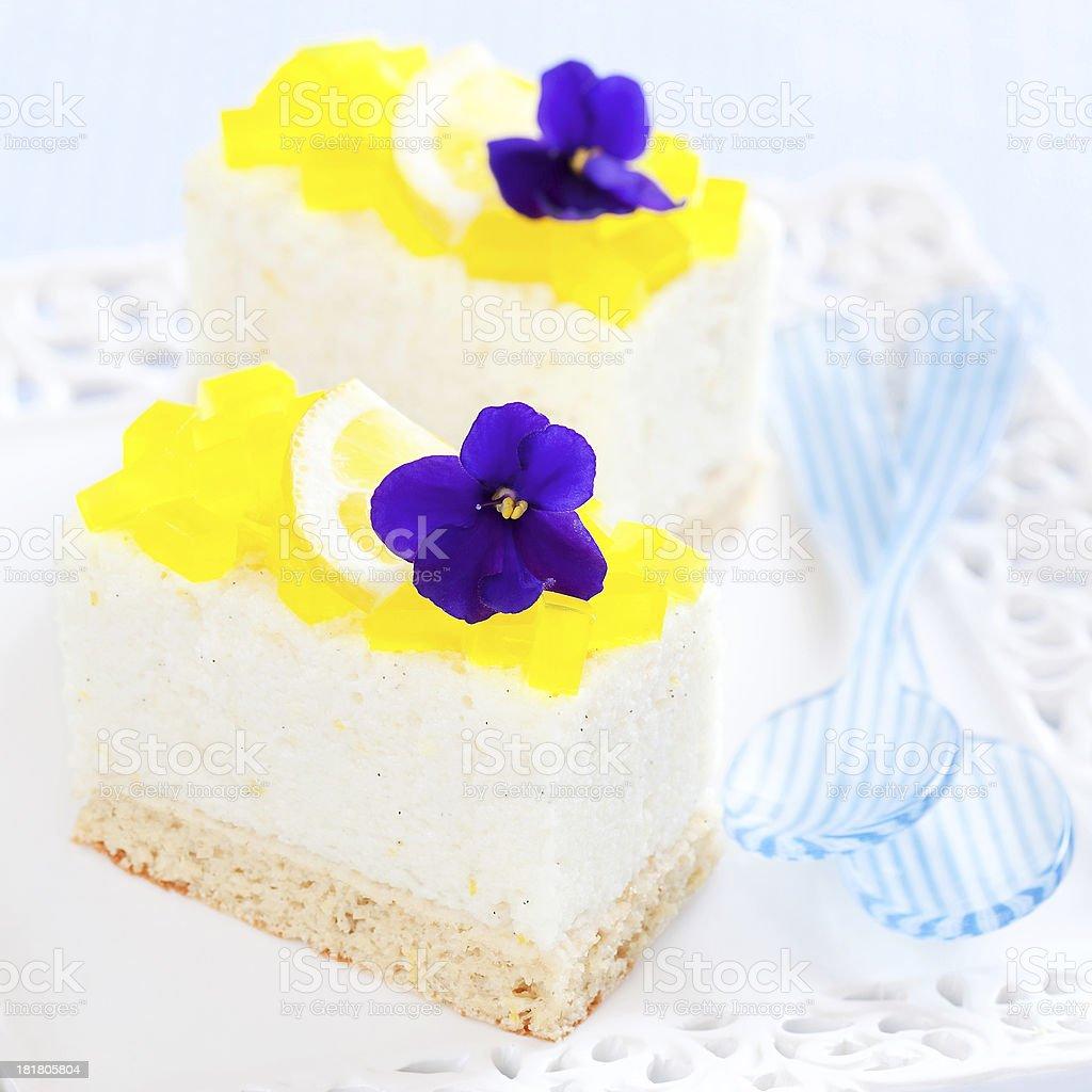 Mini lemon and vanilla cake royalty-free stock photo