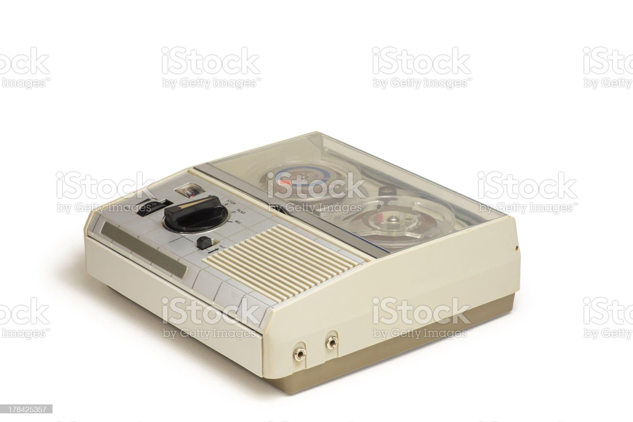 Mini Old Tape Recorder 05 royalty-free stock photo