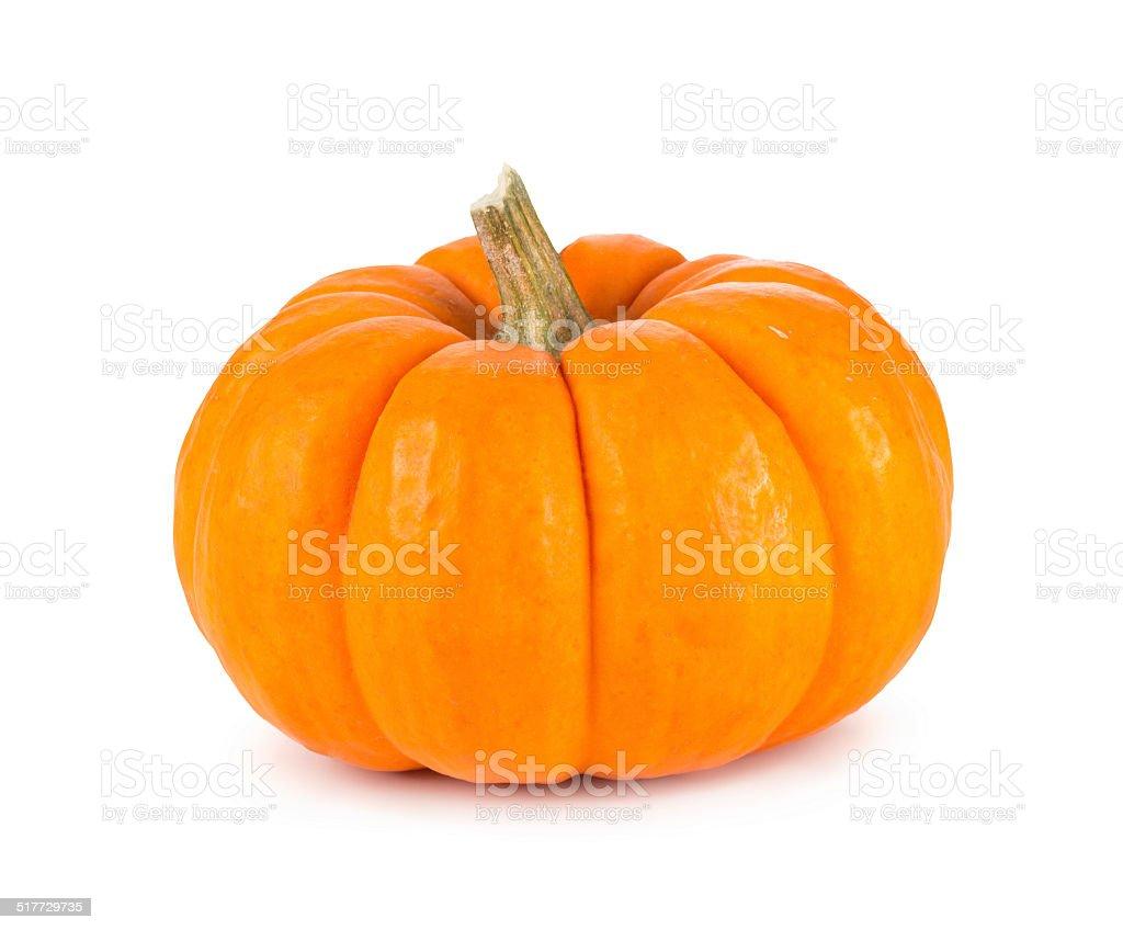 Mini Orange Pumpkin Isolated on White stock photo