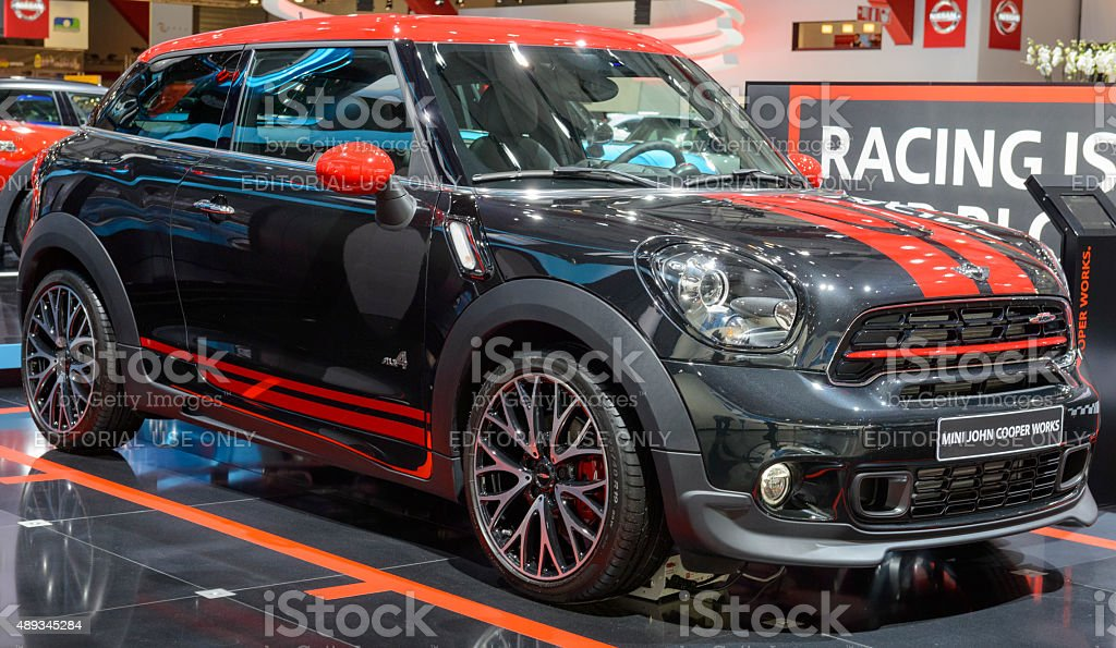 Mini Paceman John Cooper Works front view stock photo
