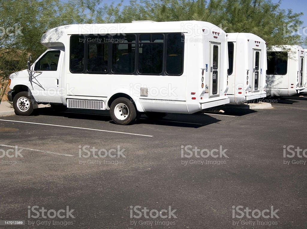 Mini Passenger vans for disabled. stock photo