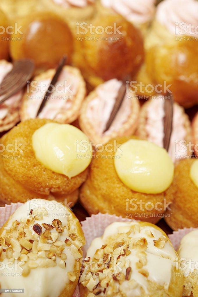 Mini Pastries stock photo
