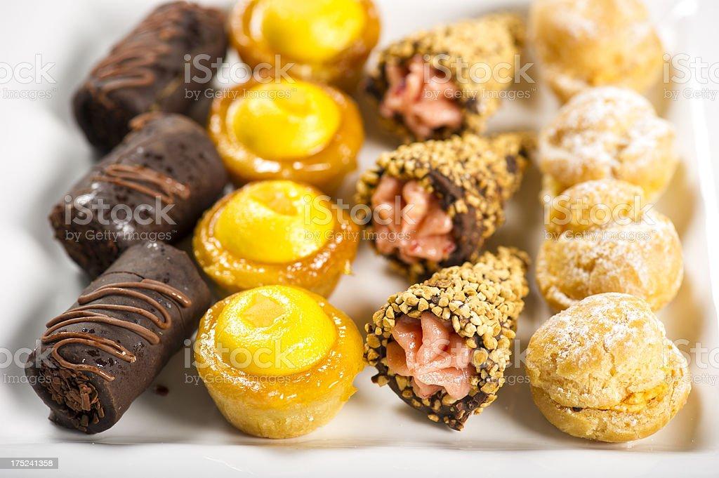 Mini Pastries royalty-free stock photo