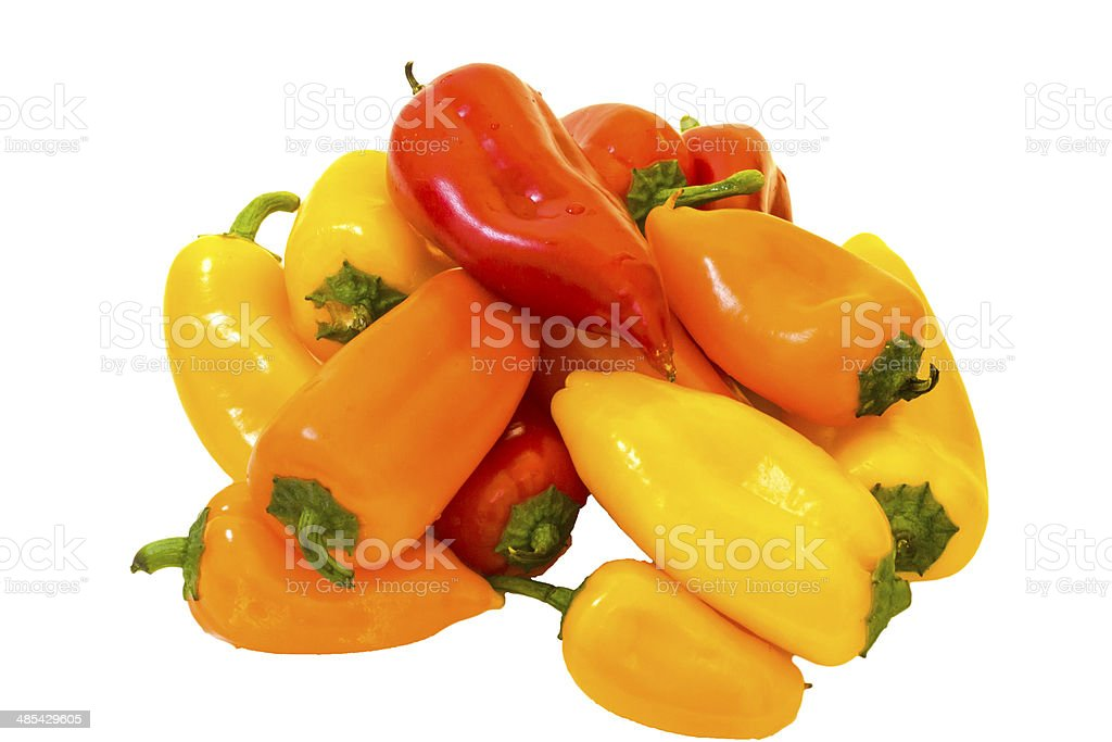 Mini peppers . stock photo