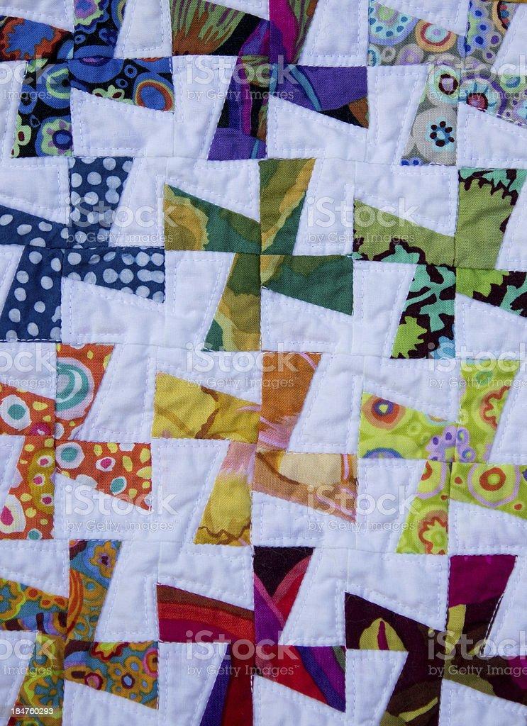Mini Pinwheel Quilt stock photo