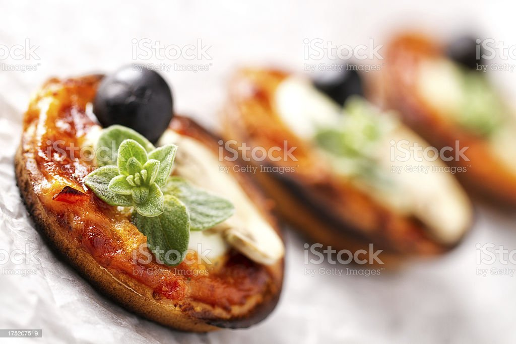 Mini pizza royalty-free stock photo