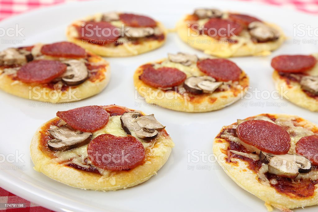 Mini Pizzas royalty-free stock photo