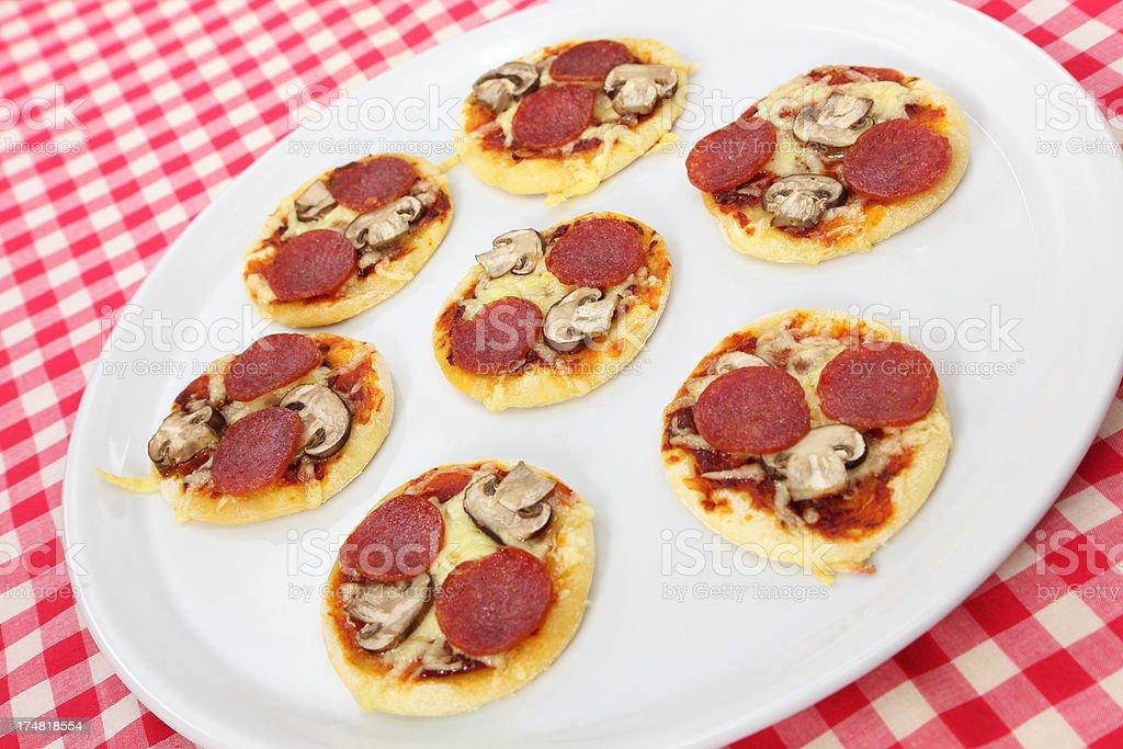 Mini Pizzas royalty-free stock photo