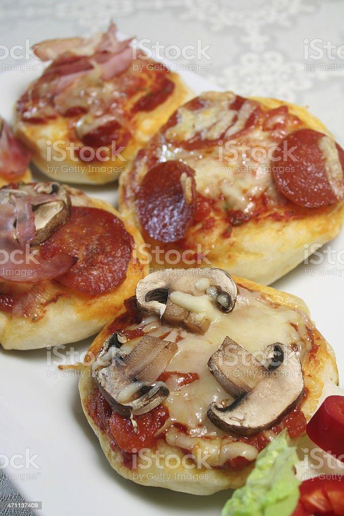 Mini Pizzas stock photo