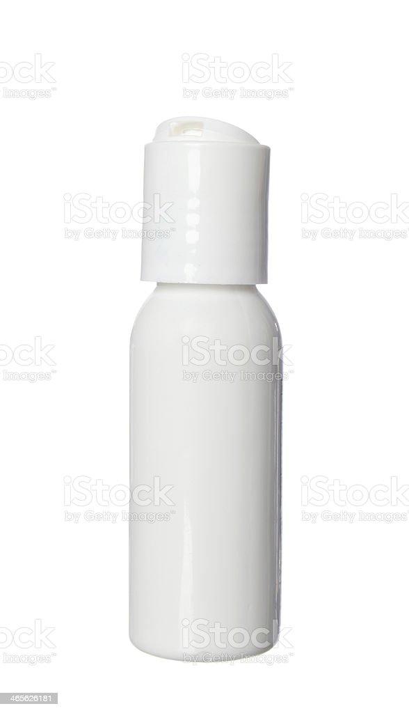 Mini Plastic Bottle stock photo