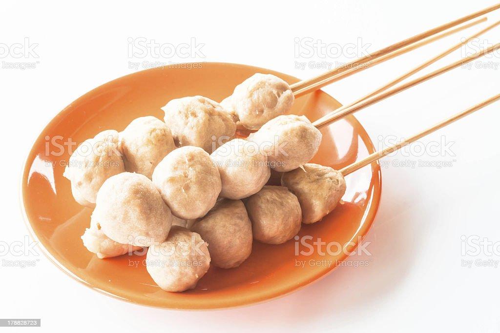 Mini pork balls stock photo