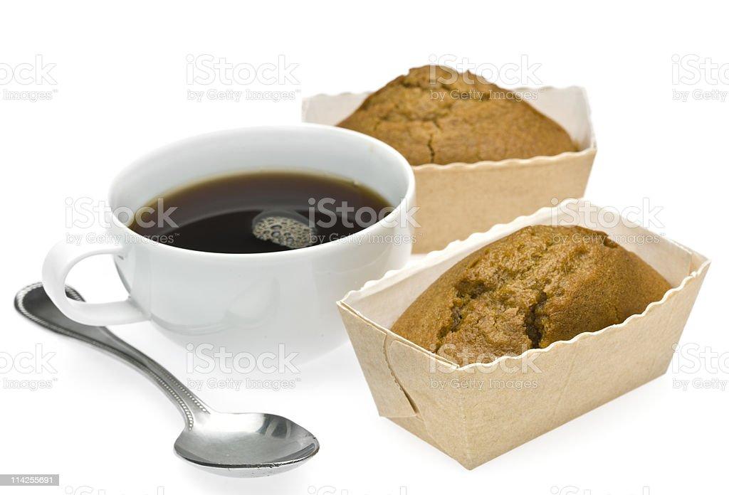 Mini Pound Cakes and Coffee royalty-free stock photo