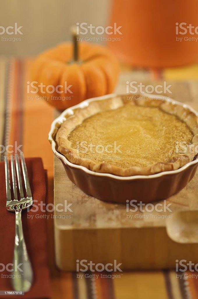 Mini Pumpkin Pie stock photo
