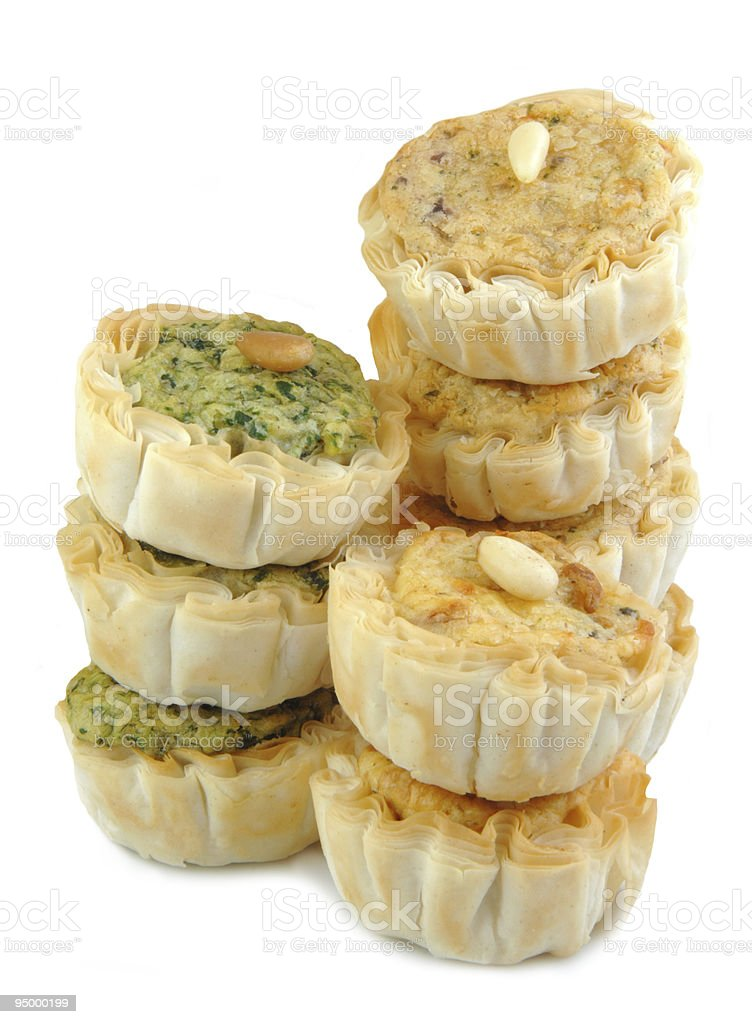 Mini Quiche Appetizers Stacked royalty-free stock photo