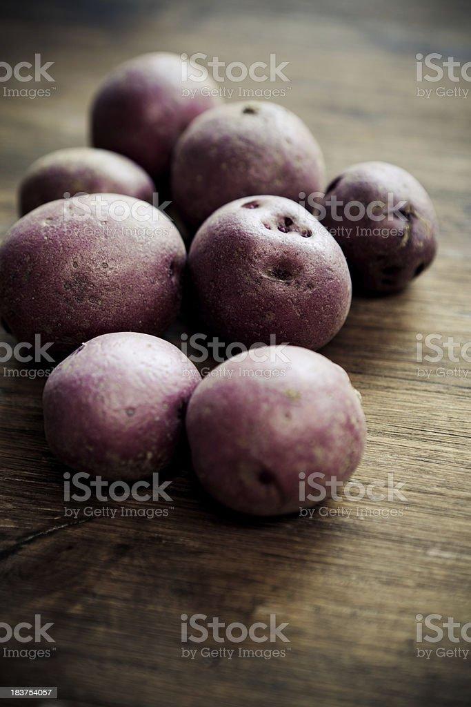 Mini Red Potatoes stock photo