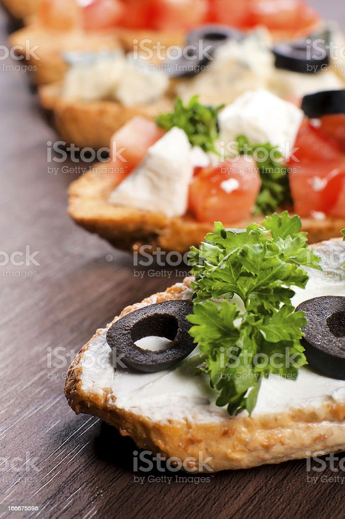 Mini sandwich royalty-free stock photo