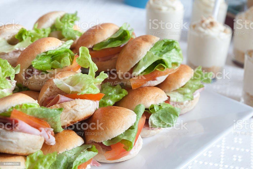 mini sandwich stock photo