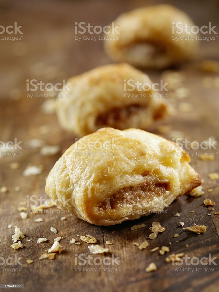 Mini Sausage Rolls stock photo