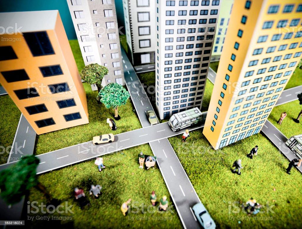 Mini scale city stock photo