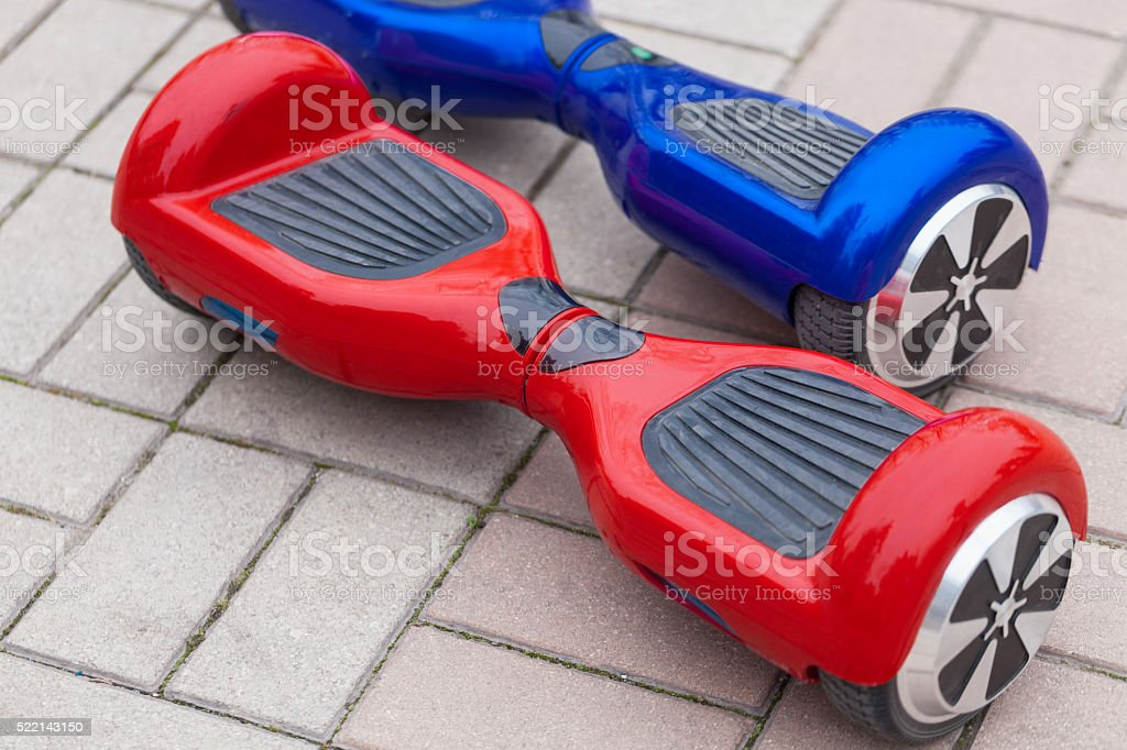Mini segway or hover board scooter stock photo