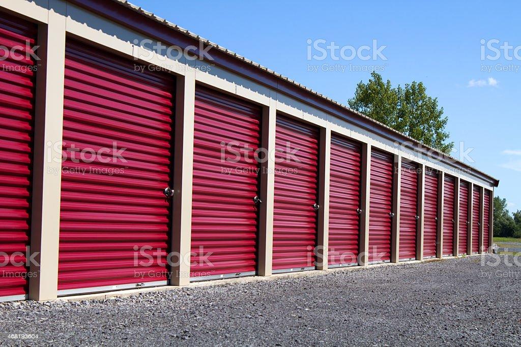 Mini Self Storage Rental Units stock photo