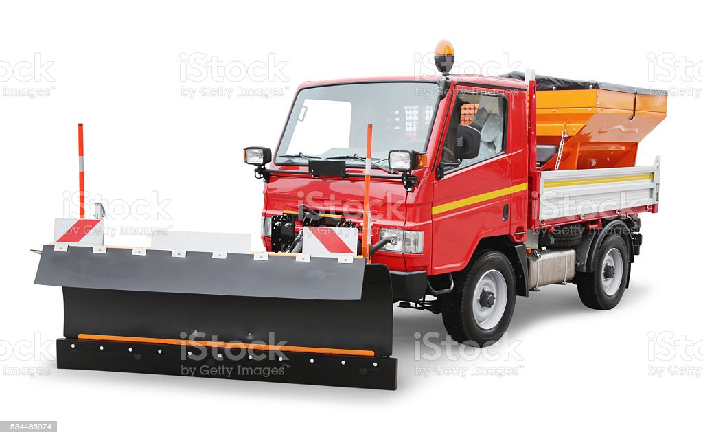 Mini Snowplow Truck stock photo