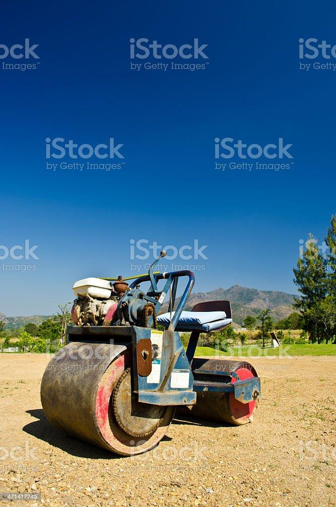 mini steamroller royalty-free stock photo