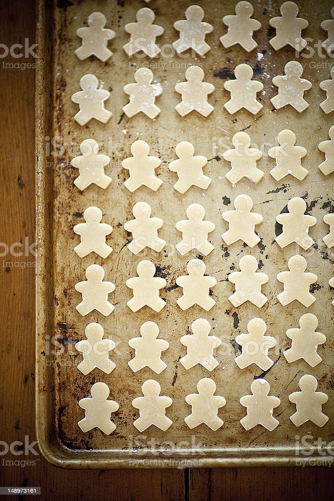 Mini Sugar Cookie People stock photo