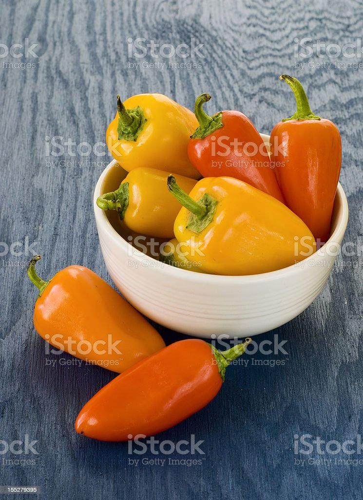 Mini sweet peppers stock photo