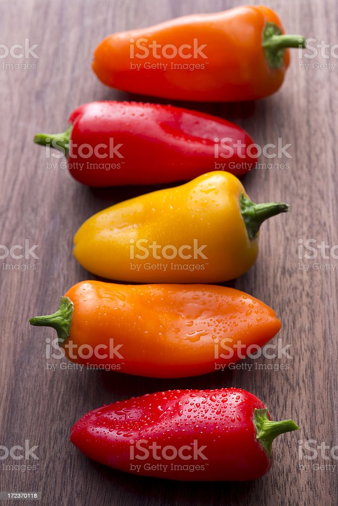 Mini Sweet Peppers royalty-free stock photo