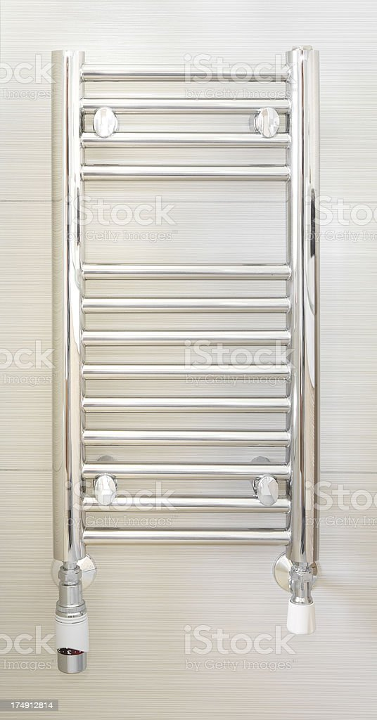 mini towel radiator stock photo