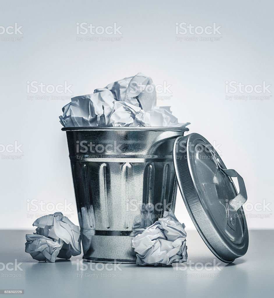 MIni trashcan stock photo