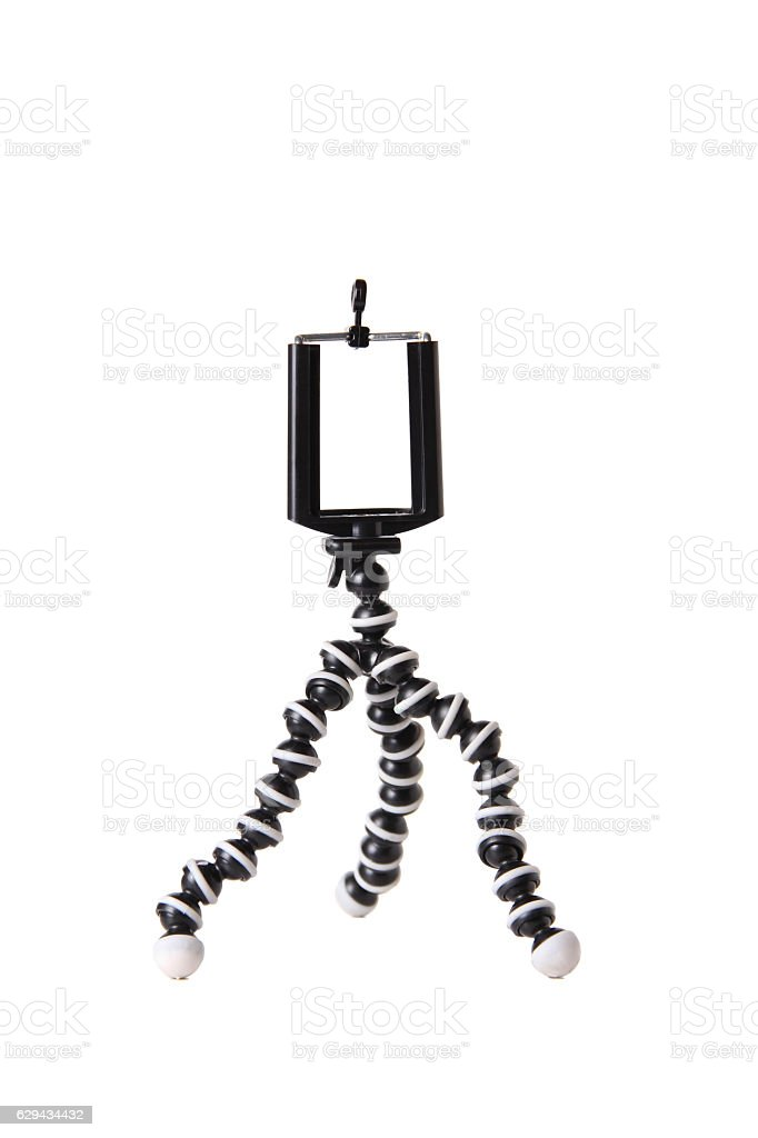 Mini tripod stock photo